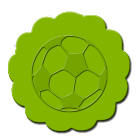 Soccer Cupcake Decoration Lime Green