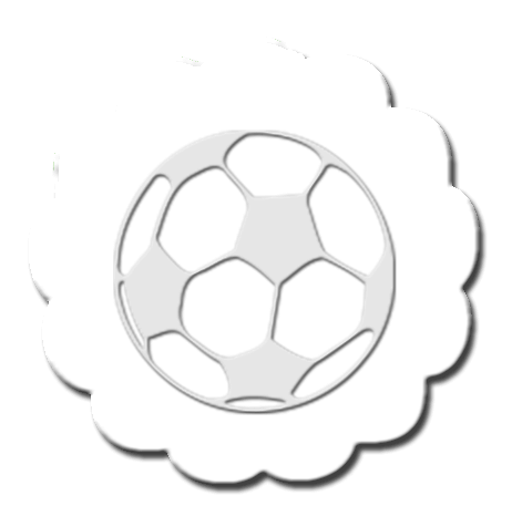 Soccer Cupcake Decoration White