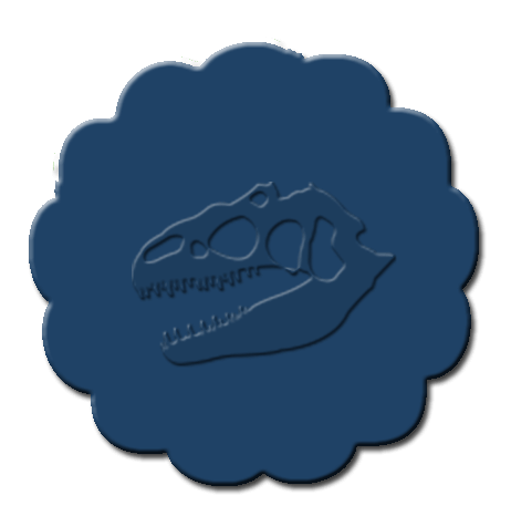 Dinosaur Cupcake Decoration Dark Blue