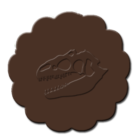 Dinosaur Cupcake Decoration Dark Brown