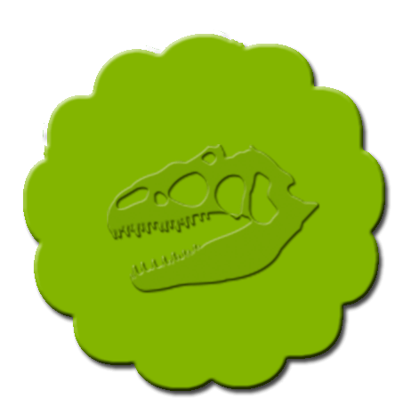 Dinosaur Cupcake Decoration Lime Green